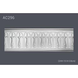 Молдинг для стен с рисунком AC296 (244*15.9*3.8) (полиуретан)