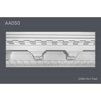 Плинтус потолочный с рисунком АА 050 (240*16*17) (полиуретан)