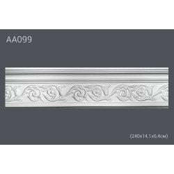 Плинтус потолочный с рисунком АА099 240*14,2*6 см (полиуретан)