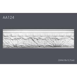 Плинтус потолочный с рисунком АА124 244х18,1х2,8 см (полиуретан)