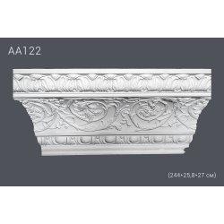 Плинтус потолочный с рисунком АА122 244х25,3х27 см (полиуретан)
