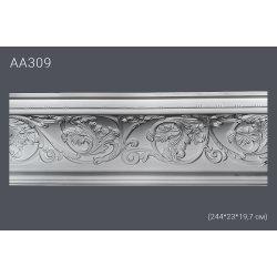Плинтус потолочный с рисунком АА309 244х22,9х19,1 см (полиуретан)