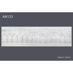 Плинтус потолочный с рисунком АА123 244х21,1х20,3см (полиуретан)