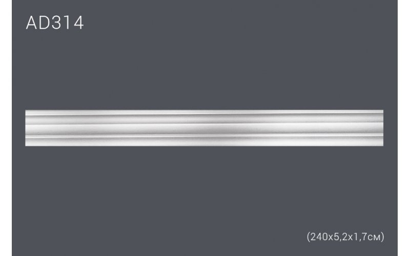 Гнущийся декор профиль AD314 (240*5,4*1,6) (полиуретан)