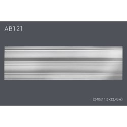 Декоративный потолочный плинтус АВ121 (полиуретан)