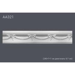 Декор профиль АА321 240*7*7 см диагональ 9,7 см (20)