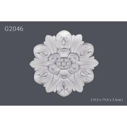 Декоратинвая розетка G2046 19.5*19.5*3.5 cm (полиуретан)