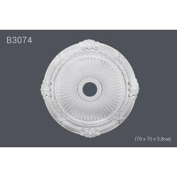Декор. розетка В3074 70 х 70 х 5,8см (полиуретан)