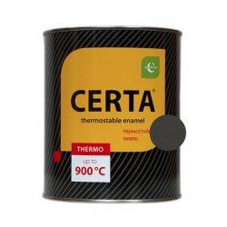 CERTA эмаль термостойкая антикоррозионная черный до 750°С (0,8кг)