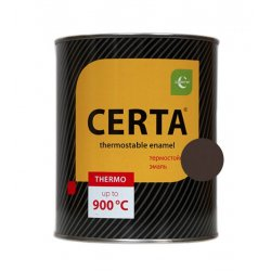 CERTA эмаль термост. антикор. коричневый до 500°С (0,8кг)