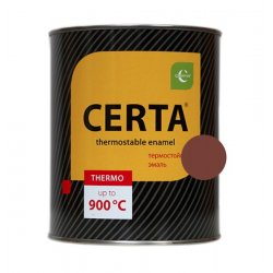 CERTA эмаль термост. антикор. красно-коричневый до 500°С (0,8кг)