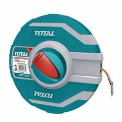 Мерная лента ТОТАL TMTF12206 30м стальное полотно (метрика и дюйм)