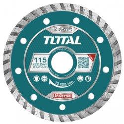 TAC2131153 TOTAL Диск алмазный ТУРБО 115мм посадка 22.2мм