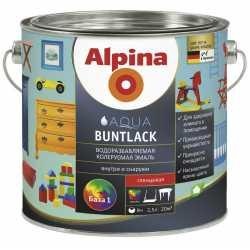 Эмаль акрил. (Alpina Aqua Buntlack) шелковисто-матовая База 3, 705мл / 0,754кг