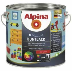 Эмаль акрил. (Alpina Aqua Buntlack) шелковисто-матовая База 1, 2,5л / 3,05кг