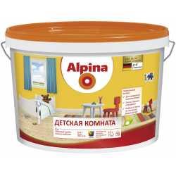 Краска ВД-ВАЭ Alpina Детская комната База 1, белая, 2,5 л / 3,6 кг