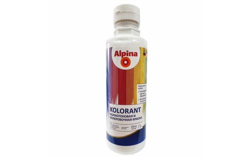 Краска акрил. в/д Alpina Kolorant (Альпина Колорант) Weiss/Белый 500мл / 0,719кг