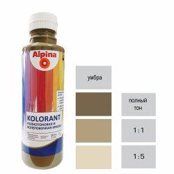 Краска акрил. в/д Alpina Kolorant (Альпина Колорант) Umbra/Умбра 500мл / 0,675кг
