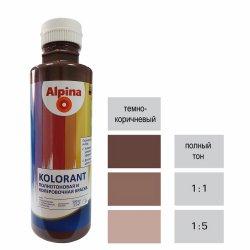 Краска акрил. в/д Alpina Kolorant (Альпина Колорант) Dunkelbraun/Темно-коричневый 500мл