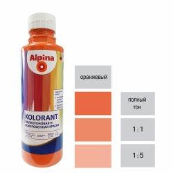 Краска акрил. в/д Alpina Kolorant (Альпина Колорант) Orange/Оранжевый 500мл / 0,7кг
