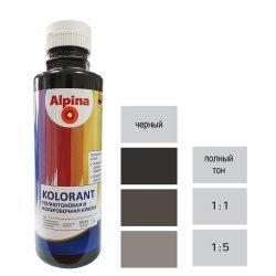 Краска акрил. в/д Alpina Kolorant (Альпина колорант) Schwarz/Черный 500мл / 0,671кг