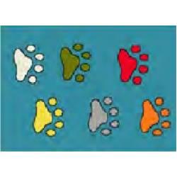 Детский коврик 0,50 х0,80 11098/140 0,5 х 0,8 Голубой следы