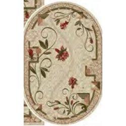 Ковёр KOLIBRI Lotos 587/116 2,00 х3,00 Бежевый/ цветы+ромбы овальный