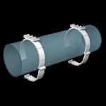 Держатель круглого канала 16ДКП воздуховодов D160
