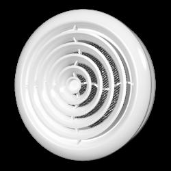 Решетка вентиляционная Эра ДК 125 диффузор приточно-вытяжной со стопорным кольцом и фланцем D125