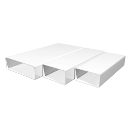 Воздуховод ЭРА ВП 612 2м прямоугольный ПВХ 60х120 пластик