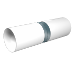 Воздуховод ЭРА ВП круглый ПВХ D125 длина 2м
