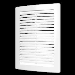 Решетка вентиляционная ЭРА РЦ 1520 цилиндрическая с сеткой 150х200
