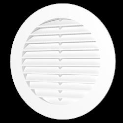 Решетка вентиляционная Эра 10РКС круглая с пластиковой сеткой D130 с фланцем D100