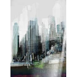Фотообои 3D здания 184*254cm KOMAR Rush (4 части)