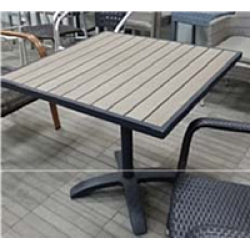 ТК-024 металлический стол с пластиковой столешницей