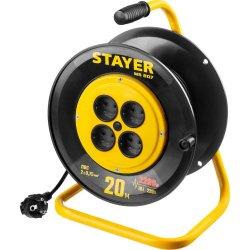 Удлинитель на катушке MS 207 20м 2200Вт 4 гнезда STAYER 55073-20 z01