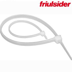 FS-White Лент. хомут для св. кабелей 3,6х200 Friulsider (100шт)