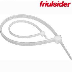 FS-White Лент. хомут для св. кабелей 2,5х200 Friulsider (100шт)
