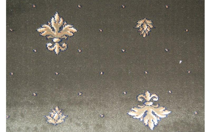 Бытовой ковролин Украина Boston Heat Set 100% PP 25106/310 Зелёный / пики 4,0м