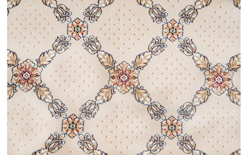 Бытовой ковролин Украина Boston Heat Set 100% PP 25105-110 Бежевый/цветы в орнаменте 4,0м