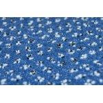 Ковролан  Endurance 887  синий  с точками  4 м