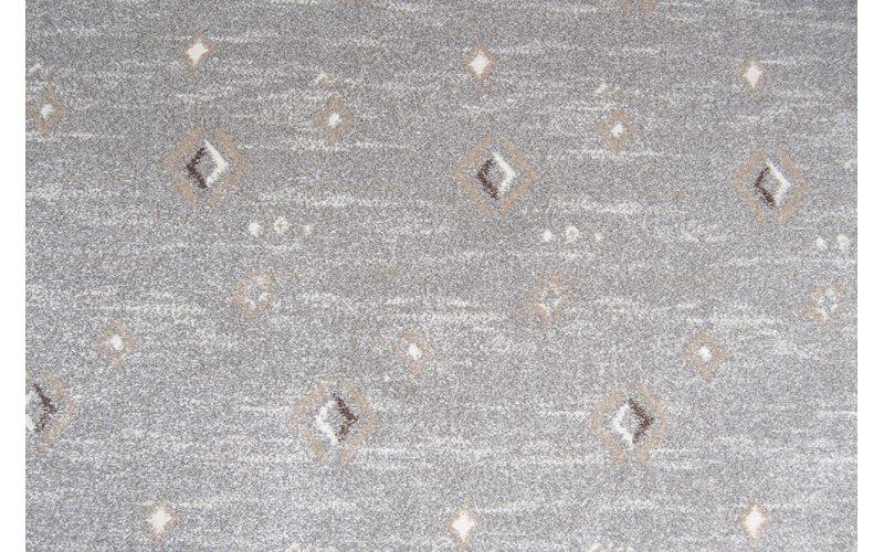 Бытовой ковролин Matrix 0644 серый с ромбами 4м