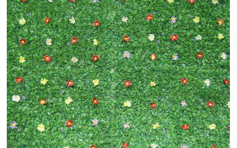 Искусственный газон с цветами