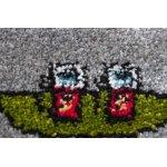 Бытовой ковролин Украина FRISE KOLIBRI 11045/130 Серый город дороги 4,0м