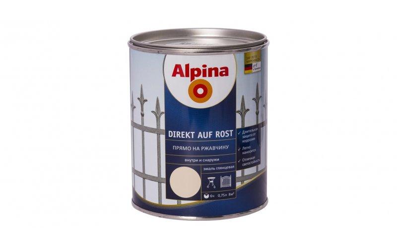 Эмаль алкидн. Alpina Прямо на ржавчину RAL3000 Красный (Alpina Direkt auf Rost) 750мл / 0,7