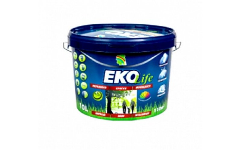"""Водно-дисперсионная краска """"ЭКО Life"""" (5л) 6.5 кг."""