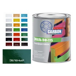 Эмаль ПФ 115 CARBON зеленый 0,8 кг