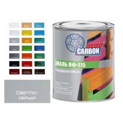 Эмаль ПФ 115 CARBON светло-серый 0,8 кг