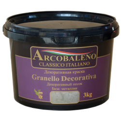 "Краска декоративная ""Arcobaleno Granello Decorativa"" база: металлик 3 кг"