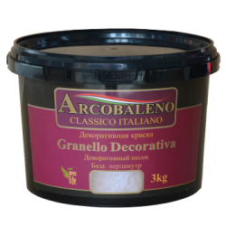 "Краска декоративная ""Arcobaleno Granello Decorativa"" база: перламутр 1 кг"